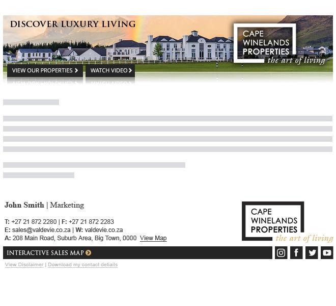 Cape Winelands Properties