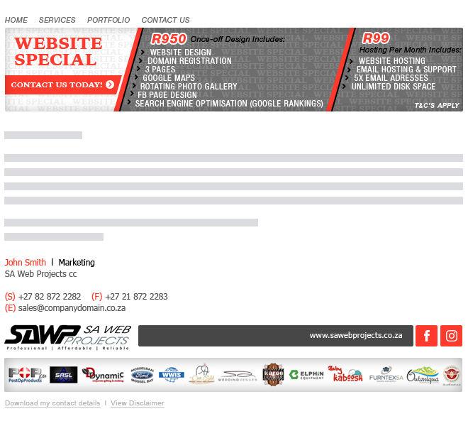 SA Web Projects